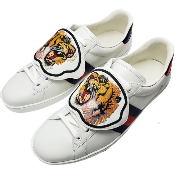 Gucci Ace Sneakers With Removable Tiger